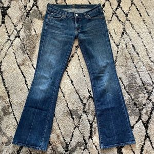 7 for all mankind low rise boot cut jeans